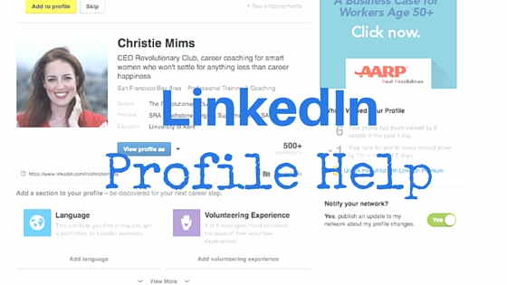 linkedin profile help for your career transition