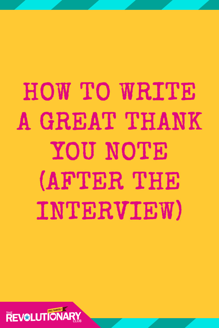 thank you notes after interviews