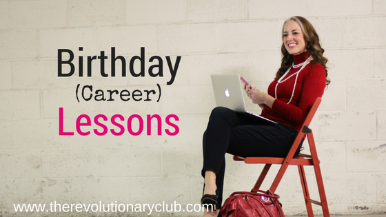 birthday lessons for your career
